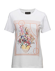 FLOWER-TEE - BRIGHT WHITE