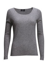 Eva Pullover - 003 Light Grey Melange