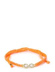 Infinity Bracelet - Neon Orange