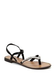 Dune Sandal - Black/White
