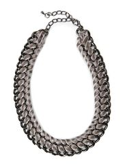 Velvet Necklace - Grey