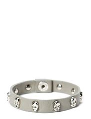 Face Bracelet Silver - Light Grey