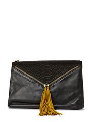 Barcelona Clutch - Black/Curry