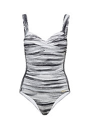 Let's get Physical Plus Cup Onepiece - BLACK / WHITE