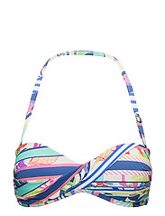 Tropical Rainbow Twist Bandeau - COBALT