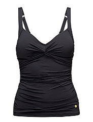 Solids Twist Plus Cup Tankini - BLACK