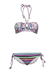 Seekers Bandeau Bikini Set - GREEN/SEA