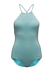 High Neck Onepiece - TURQUOISE