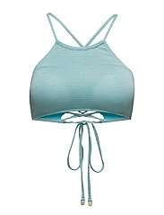High Neck Top - TURQUOISE