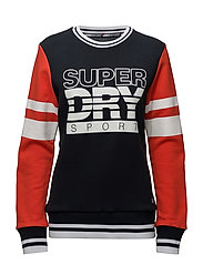 SD SPORT COLOUR BLOCK CREW - NAVY/RED