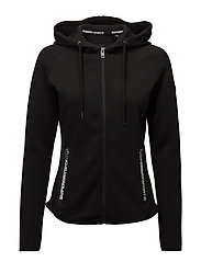 SD SPORT GYM TECH LUXE ZIPHOOD - BLACK