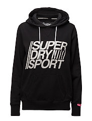 SUPERDRY SPORT ESSENTIALS HOOD - BLACK