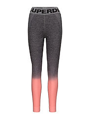 SD SPORT SEAMLESS OMBRE LEGGINGS - GREY/CANDY CORAL
