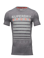 ATHLETIC GRAPHIC TEE - MID GREY GRIT