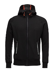 GYM TECH ZIPHOOD - BLACK/ASH GRANITE
