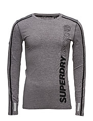 SPORT ATHLETIC L/S TEE - MID GREY GRIT