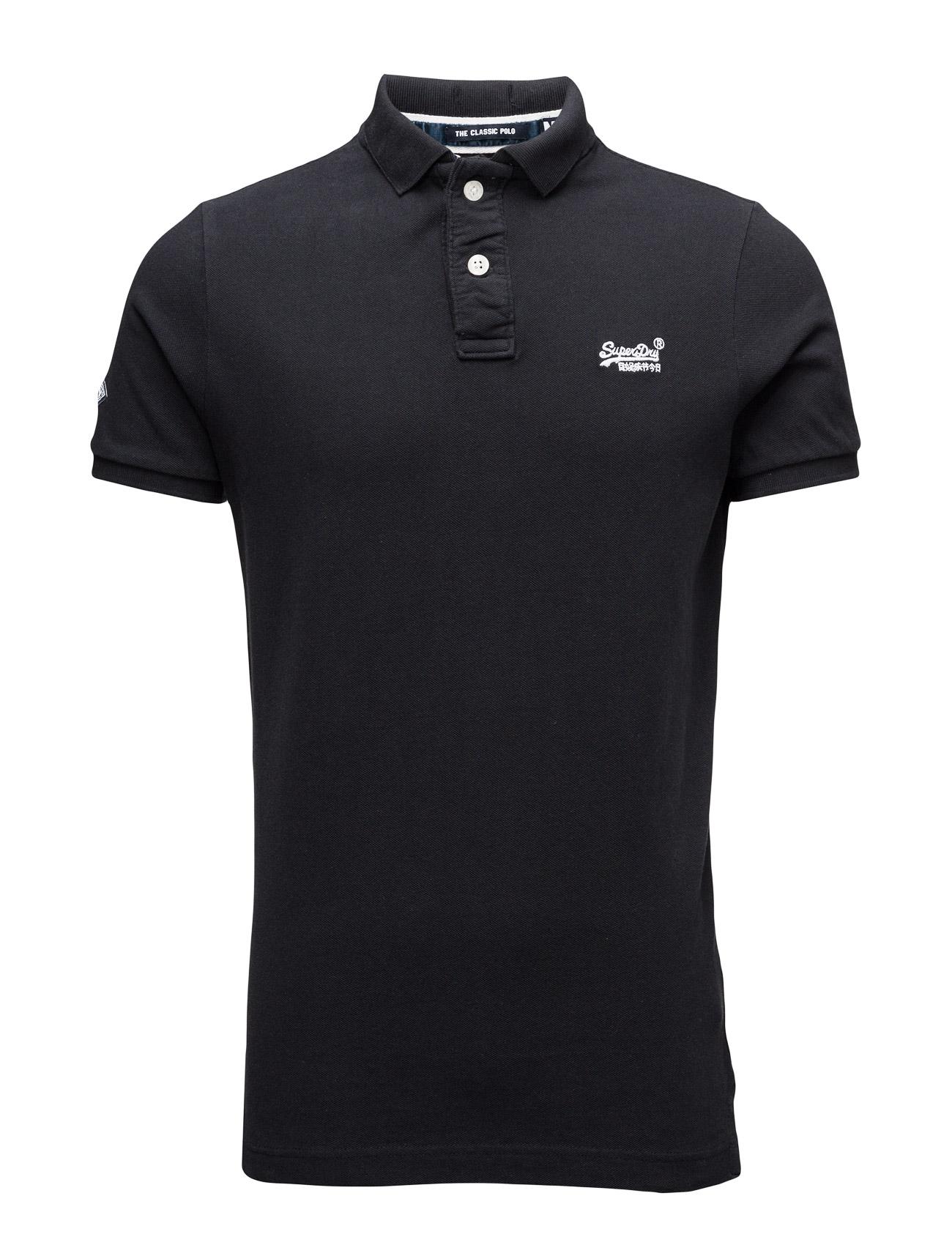 Classic Pique S/S Polo Superdry Kortærmede polo t-shirts til Herrer i Eclipse Navy