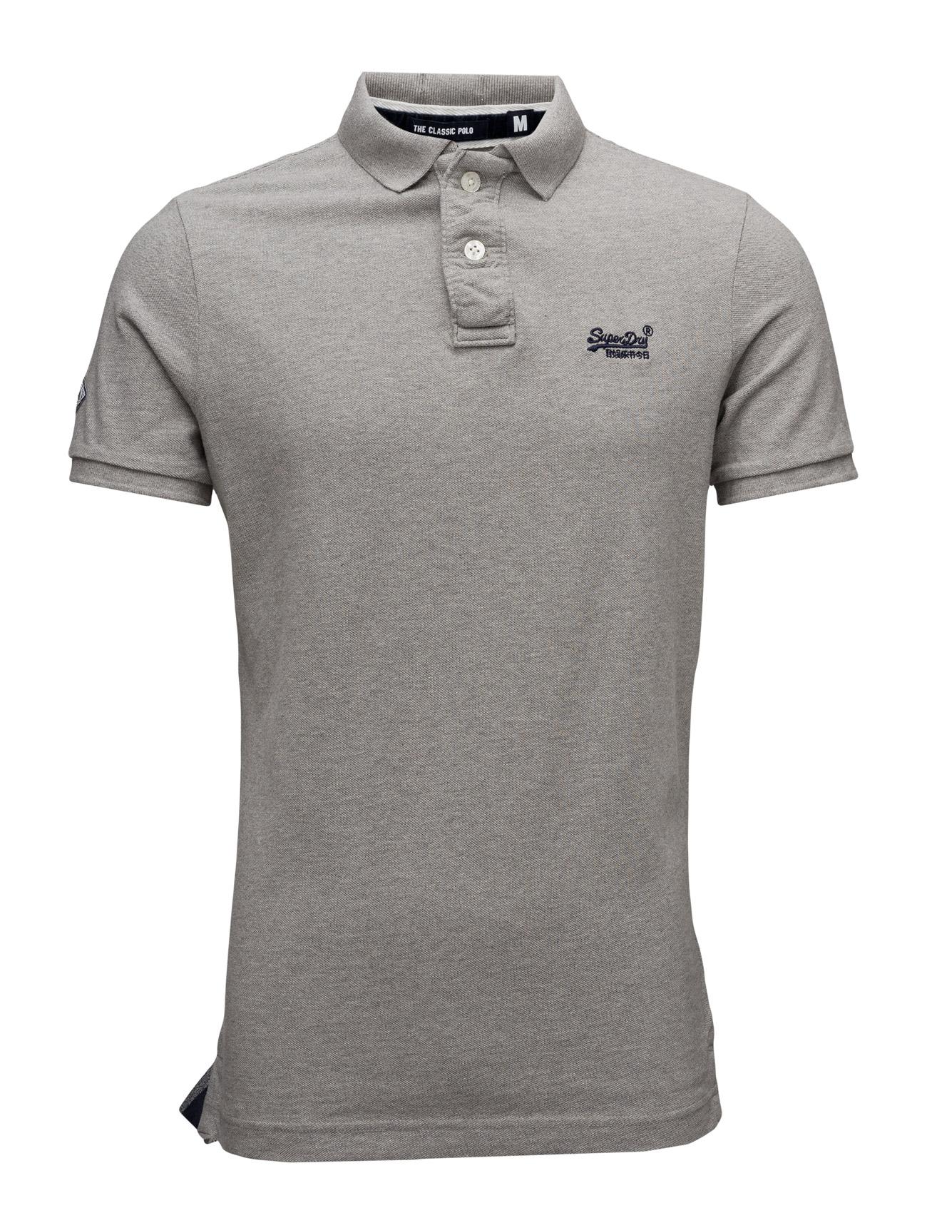 Classic Pique S/S Polo Superdry Kortærmede polo t-shirts til Mænd i Eclipse Navy