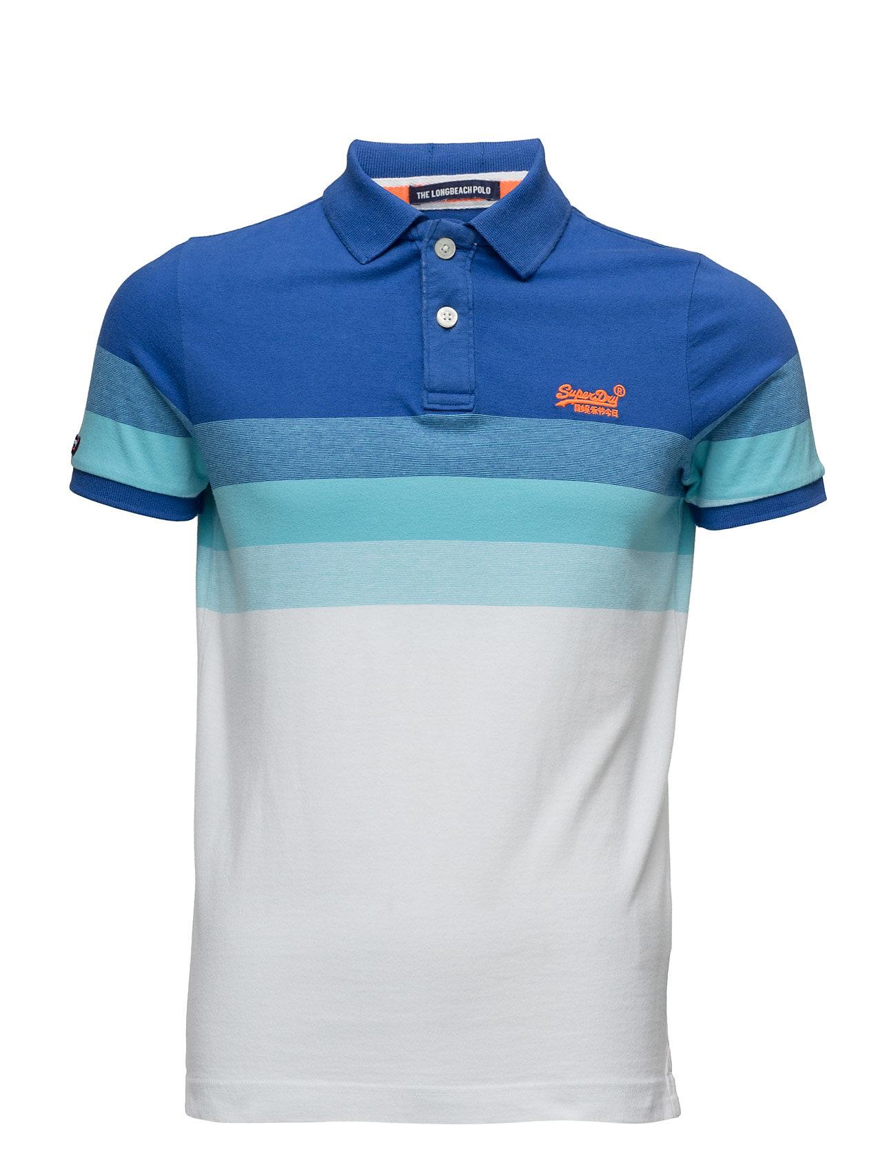 Longbeach Polo Superdry Kortærmede polo t-shirts til Herrer i Blå