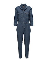 CARY SHIRT JUMPSUIT - BOILER BLUE