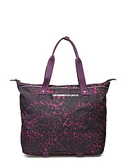 FITNESS TOTE - SPORTS LEOPARD BURGUNDY