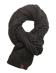 NORTH CABLE SCARF - BLACK