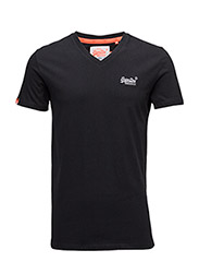 ORANGE LABEL VNTGE EMB VEE TEE - BLACK