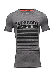 ATHLETIC SD TECH TEE - MID GREY GRIT