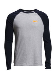 ORANGE LABEL-BASEBALL TEE - Snow Marl