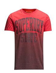 SUPERDRY STATE DIP-DYE TEE - Red marl