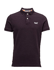CLASSIC FIT PIQUE POLO - BLACKBERRY MARL
