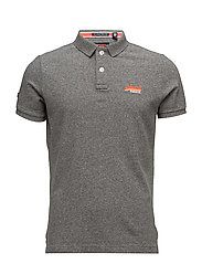 CLASSIC S/S PIQUE POLO - MID GREY GRINDLE