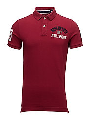CLASSIC S/S SUPERSTATE POLO - DEEP PORT WINE