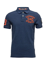 CLASSIC S/S SUPERSTATE POLO - MARVEL BLUE GRIT