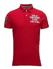 CLASSIC S/S SUPERSTATE POLO - ACE RED