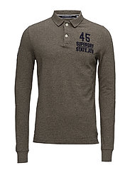 CLASSIC L/S EXPEDITION POLO - PEBBLE GRINDLE