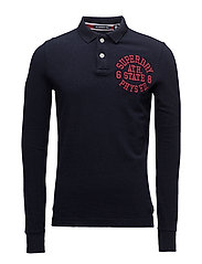 CLASSIC L/S SUPERSTATE POLO - TWILIGHT NAVY MARL