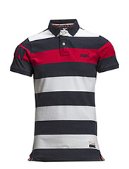HOOP STRIPE HIT POLO - Rich Red Stripe