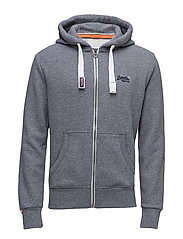 ORANGE LABEL ZIPHOOD - GRAVEL BLUE GRIT