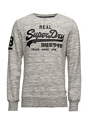 VINTAGE LOGO CREW - SIDE WALK GREY MARL SPACE DYE