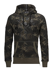 SURPLUS GOODS GRAPHIC HOOD - SURPLUS GOODS CAMO