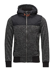 STORM MOUNTAIN HYBRID ZIPHOOD - BLACK/GREY GRIT