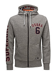LINED OSAKA ZIPHOOD - PHOENIX GREY GRIT