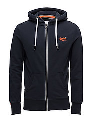 ORANGE LABEL LITE ZIPHOOD - THREE POINTER NAVY