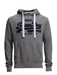 VINTAGE LOGO ENTRY-HOOD - Grey Slub