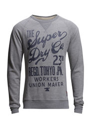 WORN WASH CREW - Grey Marl