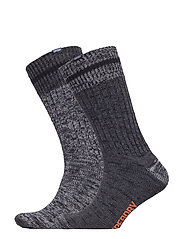 BIG SDRY MNTNR SCK DOUBLE PACK - CHARCOAL/GREY MIX