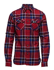 LUMBERJACK L/S SHIRT - FIRVALE RED CHECK