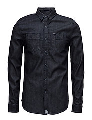 ROOKIE RAW RIVITER SHIRT - RAW DENIM