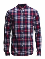 PRINCETON FINE-OXFORD L/S SHIRT - Fire Cracker Plaid